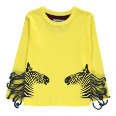 T-shirt Zebra Couple Jaune