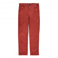 Pantalon Chino Metropolitan Rouge brique
