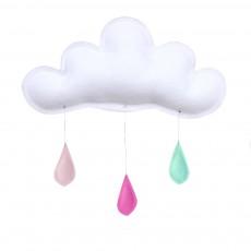 Mobile Gouttes de pluie pêche - rose - menthe