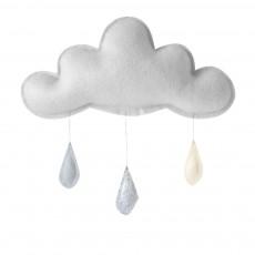 Mobile gris Gouttes de pluie gris - argenté - crème