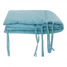 Tour de lit Lin Bleu gris