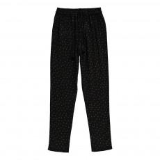Pantalon Pois Valentin Noir