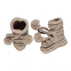Chaussons Pompons Ivoire