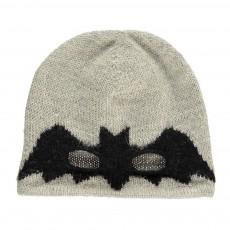 Exclusivité Oeuf x Smallable- Bonnet Masque Chauve-Souris Gris