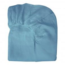 Drap-housse Lin Bleu gris