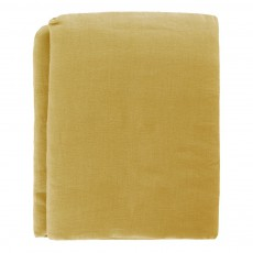 Drap plat Lin Jaune moutarde