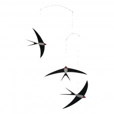 Mobile Vol d'hirondelles Noir