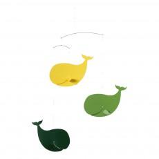 Mobile Baleines Heureuses Vert