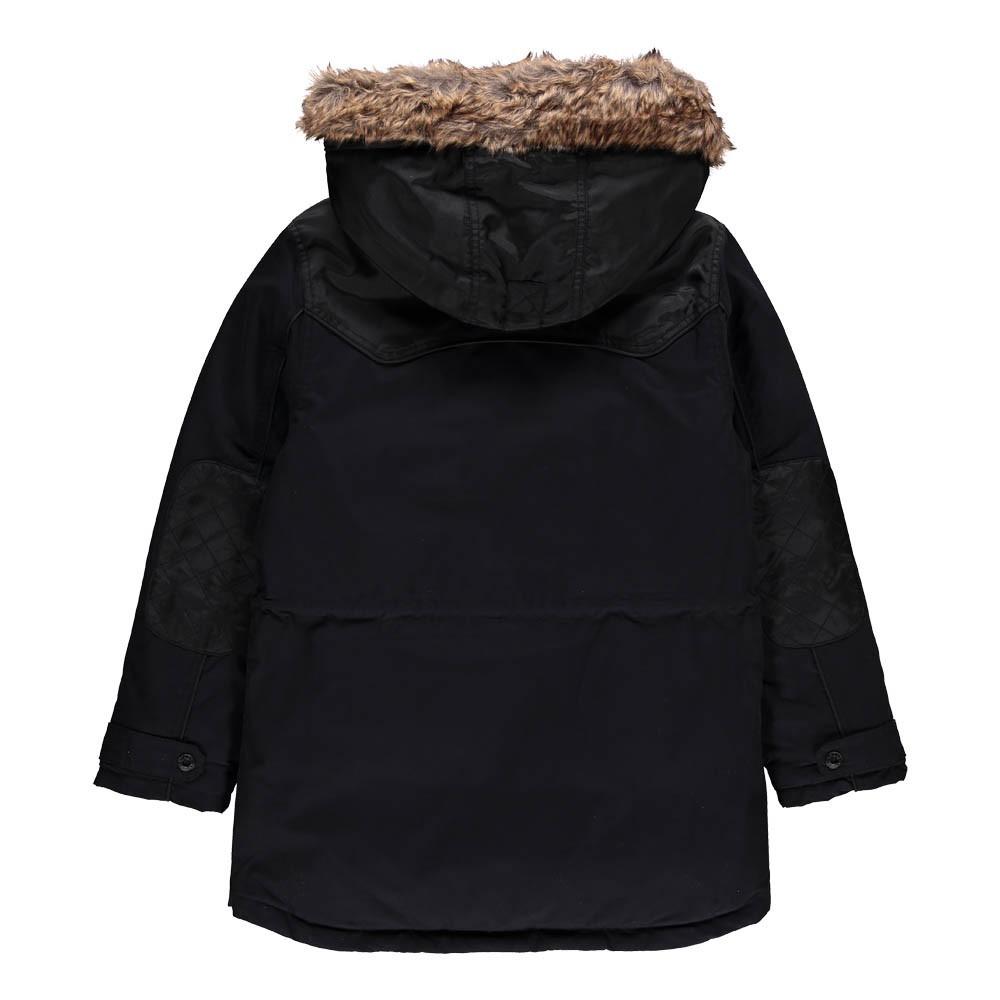 parka capuche fourrure amovible noir timberland mode ado gar on smallable. Black Bedroom Furniture Sets. Home Design Ideas