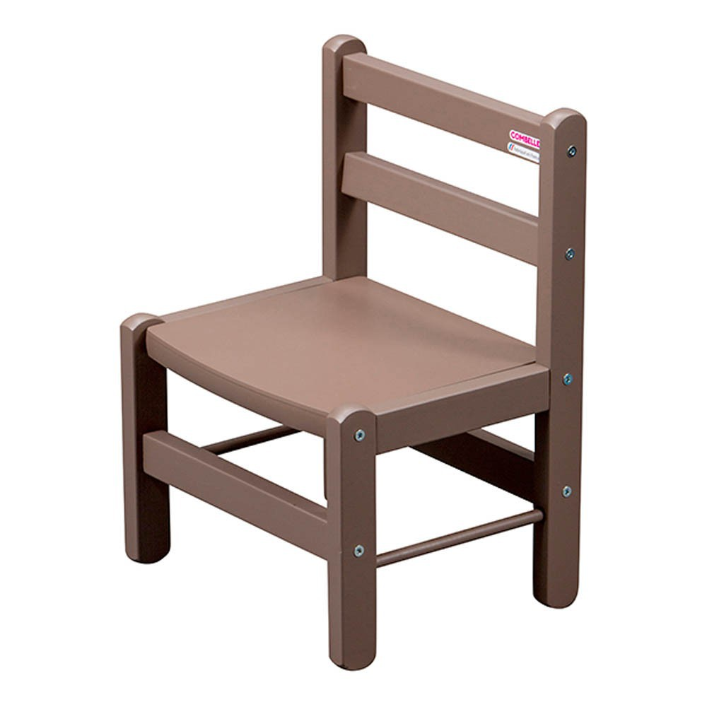 Chaise enfant laqu taupe combelle mobilier smallable - Chaise couleur taupe ...