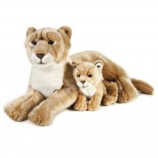 Lionne et son bébé 48 cm