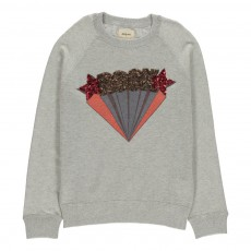 Pull Rock Sequins Gloss Gris clair