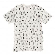 T-Shirt Imprimé Fantaisie Oslo Blanc