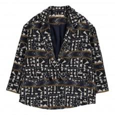 Manteau Ethnique Potosi Bleu marine