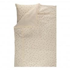 Parure de lit junior Écru - Etoiles grises
