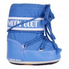 Moon Boot Mini Nylon Bleu azur