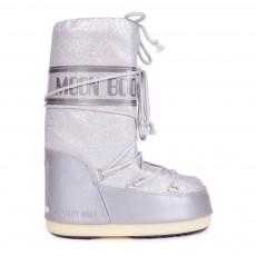 Moon Boot Delux Argenté