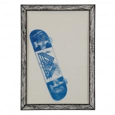 Affiche Skate 29,7x42 cm Bleu