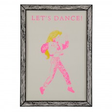 Affiche Let's Dance 29,7x42 cm Rose