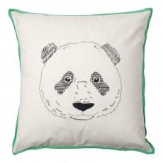 Coussin tête de panda 50x50 cm