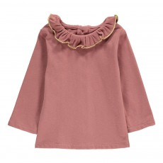 T-Shirt Collerette Nadege Vieux Rose