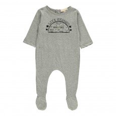 Pyjama à Pieds Live Strong Gris chiné