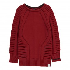 Pull Uni Coton Bio Rouge