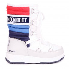 Moon Boot We Quilted Jr Blanc