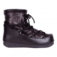 Moon Boot We. Low Paillettes Noir