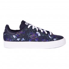 Baskets Lacets Stan Smith Fleurs Bleu marine