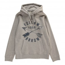 Sweat Capuche Flèches Gris chiné