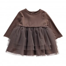 Robe Tulle Taupe