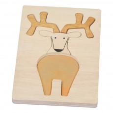 Puzzle relief cerf Naturel