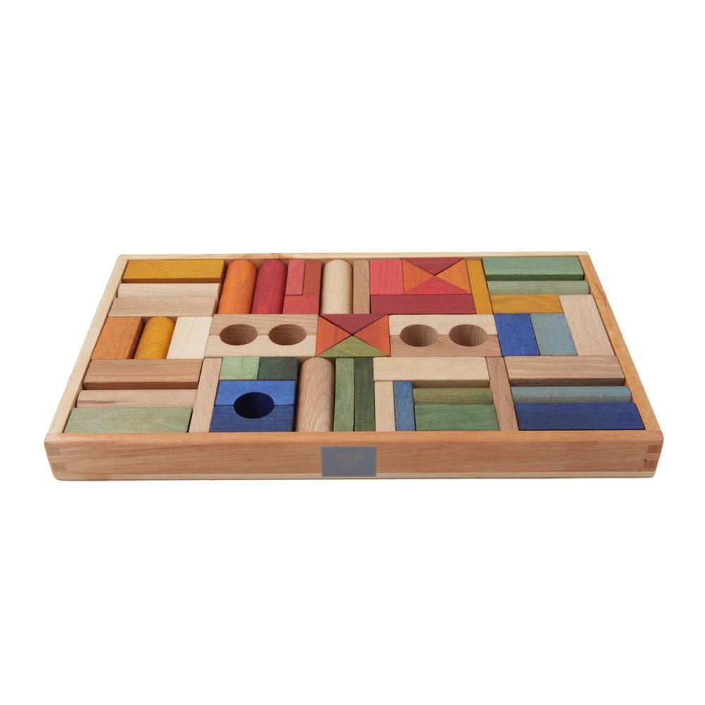 blocs bois arc en ciel 54 pi ces wooden story jouet et loisir. Black Bedroom Furniture Sets. Home Design Ideas