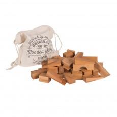 Blocs bois naturel en sac - 100 pièces