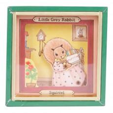 Mini boîte à musique Little Grey Rabbit Ecureuil Multicolore