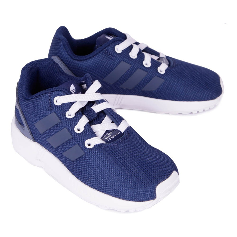 baskets lacets elastiques zx flux bleu marine adidas. Black Bedroom Furniture Sets. Home Design Ideas