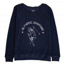 T-Shirt Double Jersey Skieuse Numie Bleu marine