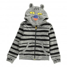 Sweat Capuche Tigre Buddy Gris