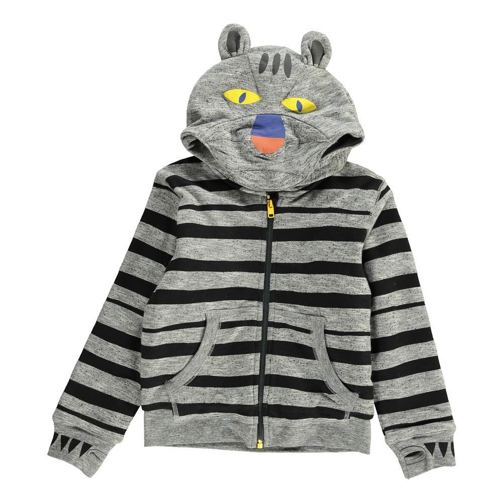 sweat capuche tigre buddy gris stella mccartney kids mode ado gar on smallable. Black Bedroom Furniture Sets. Home Design Ideas