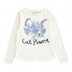 T-shirt Cat Power Ecru