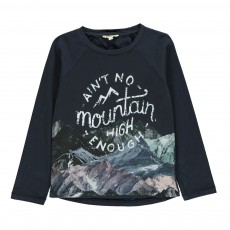 T-shirt Mountain Bleu marine