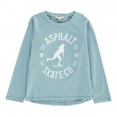 T-shirt Skater Bleu gris