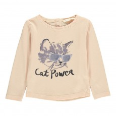T-shirt Cat Power Bébé Rose poudré