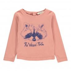 T-shirt The Wood Folks Bébé Vieux Rose