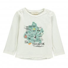 T-shirt Brooklyn Bébé Ecru