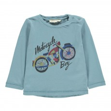 T-shirt Motorcycle Bébé Bleu gris