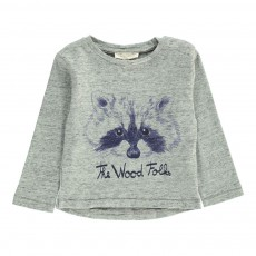 T-shirt The Wood Folks Bébé Gris chiné