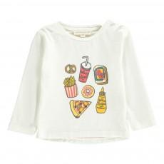 T-shirt Yummy Bébé Ecru