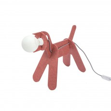 Lampe Get out dog - Rouge marsala
